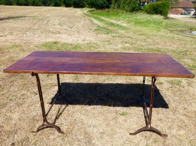 Picture of Trestle table with London plane table top