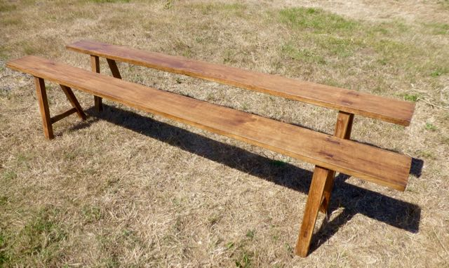 Pair of French oak benches