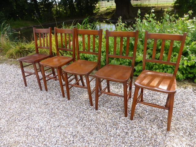 Picture of 5 wooden kitchen chairs
