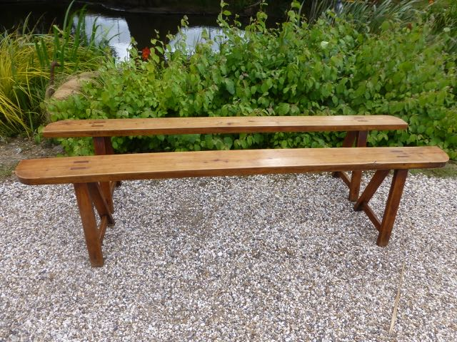 Picture of Pair of 2m French cherry benches