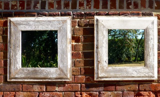 Picture of Pair of old pine architrave mirrors