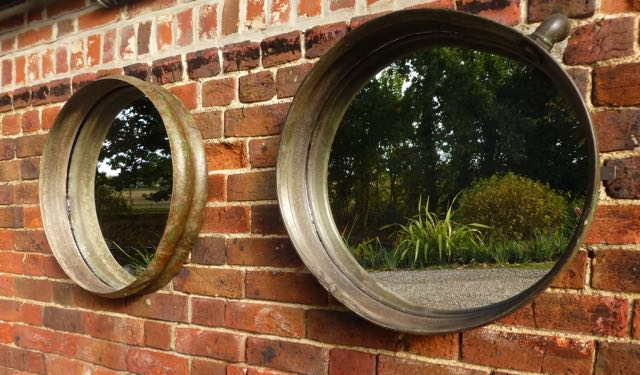 Picture of Pair of old galvanised water tank mirrors