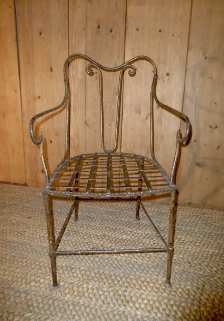 Picture of French wire framed chair