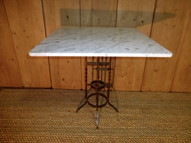 Picture of iron table with marble top