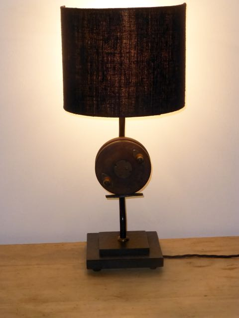 Picture of Single fishing reel table lamp