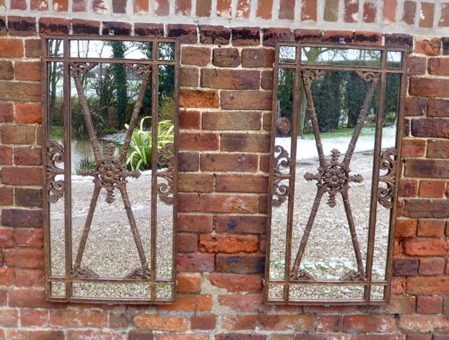 Pair of French railings ..Mirror