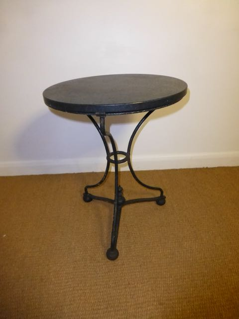 Picture of Small French table with Granite top