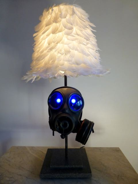 Picture of Rubber gas mask lamp