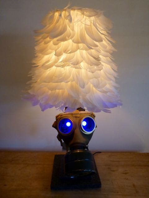 Picture of Green gas mask lamp