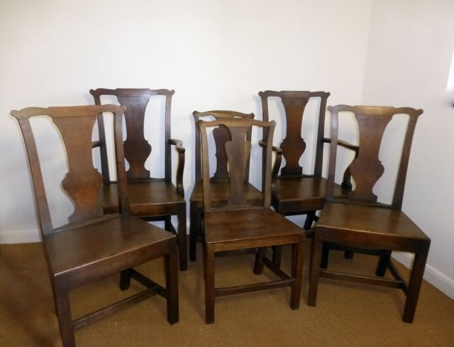 Picture of Harlequin set of 4 + 2 oak chairs