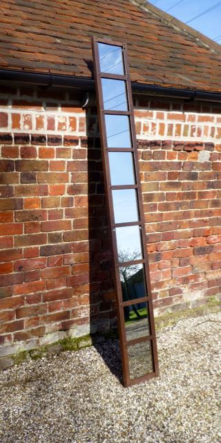 Picture of Old barn ladder mirror