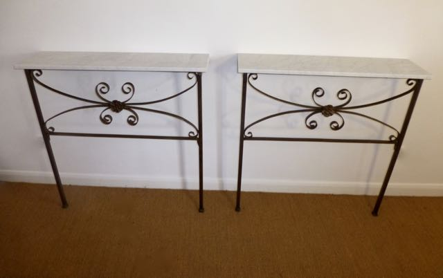Pair of French Consoles