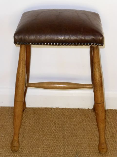 Picture of Leather top stool