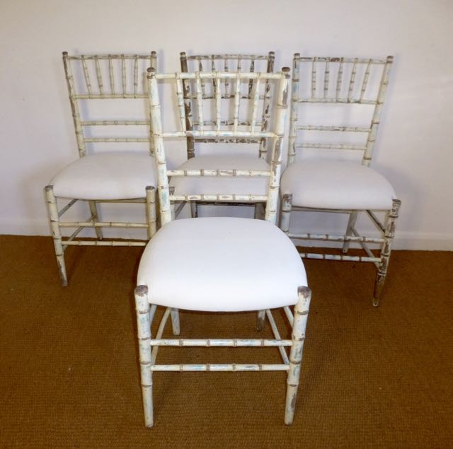 Picture of Set of faux bamboo chairs