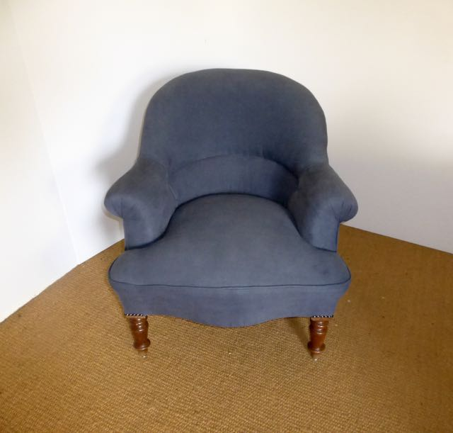 Picture of French Napoleonic chair blue