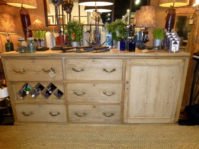 Picture of Victorian pitch pine sideboard with fruit wood top
