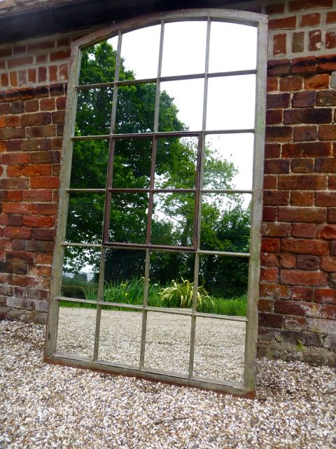 Picture of Large slow arch window mirror
