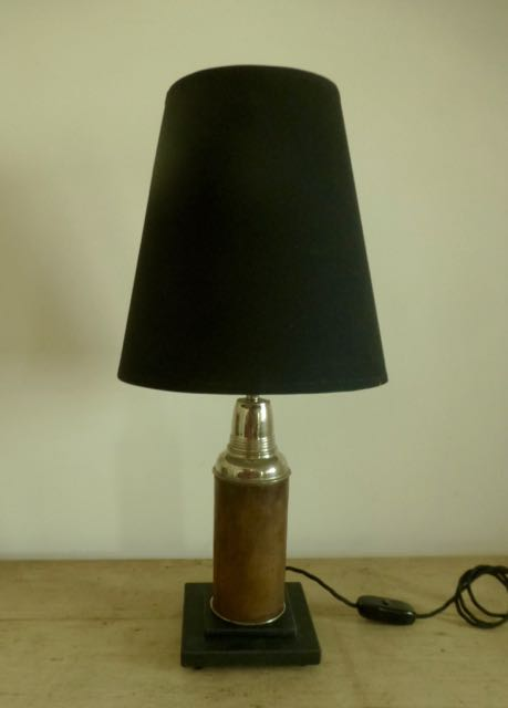 Picture of Old leather thermos flask lamp