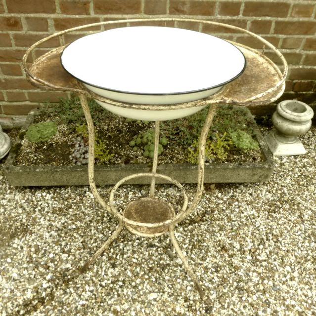 Picture of one of a pair of European wash stands