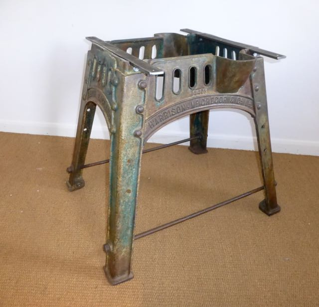 Picture of Harrison & Mcgregor industrial table base .