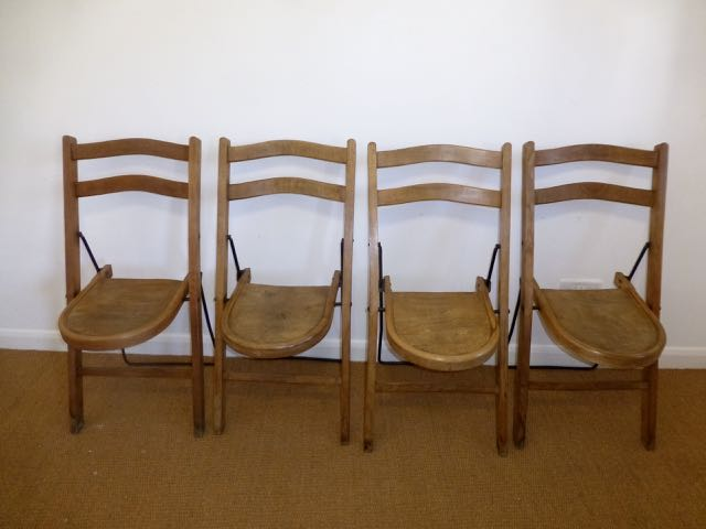 Picture of 4 English stakmore chairs