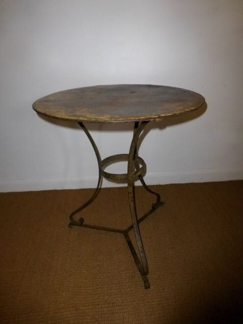 Picture of French Metal 60cm table.