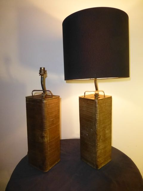 Pair of French petrol cans