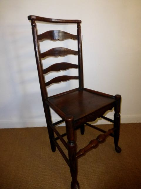 Picture of 18th century Georgian ladder back chair