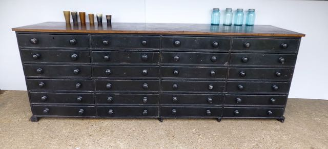 Victorian large chest of 24 draws