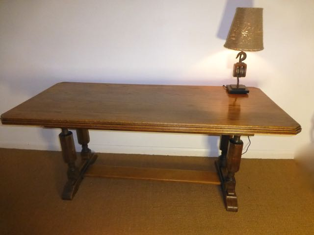 Picture of Oak refectory dinning table