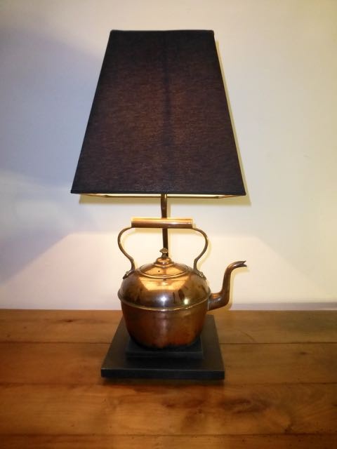 Picture of Copper kettle lamp