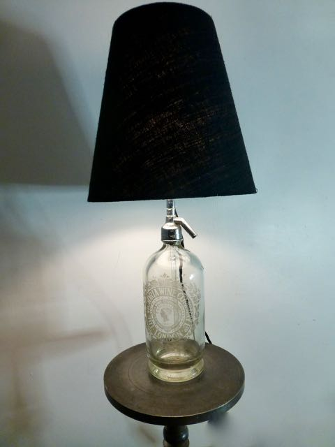 Old English soda bottle lamp