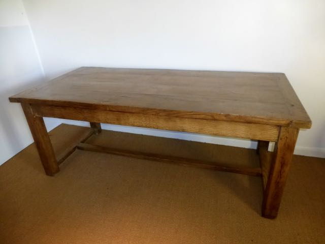 French oak butchers table.