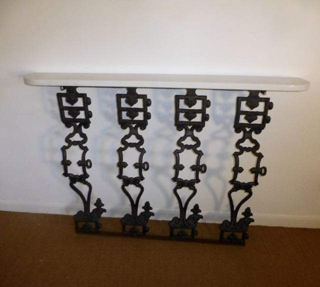 Picture of Polish cast iron railing console