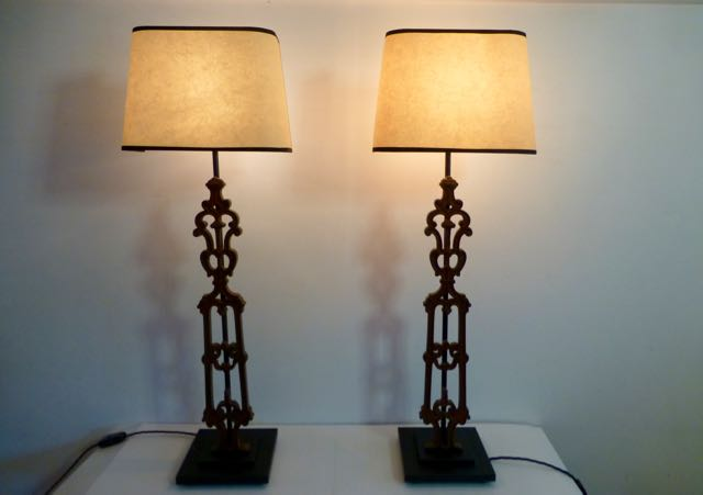 Pair of balustrade lamps