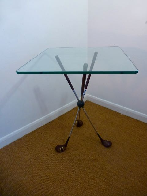 Picture of Glass top golf club table