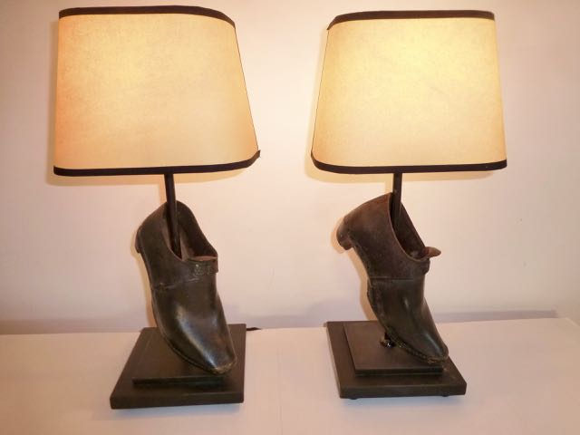 Pair of yorkshire clog lights from reclaimed lighting antiques