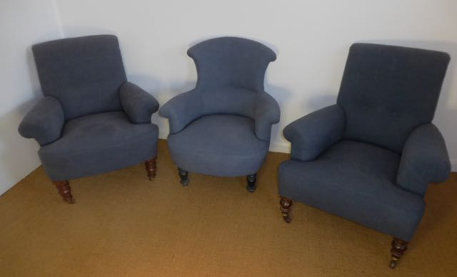 3 comfortable chairs