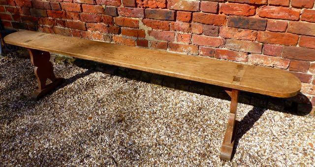 French oak bench