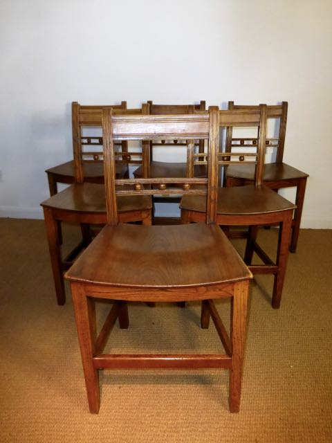 Picture of Set of 6 East Anglian oak chairs