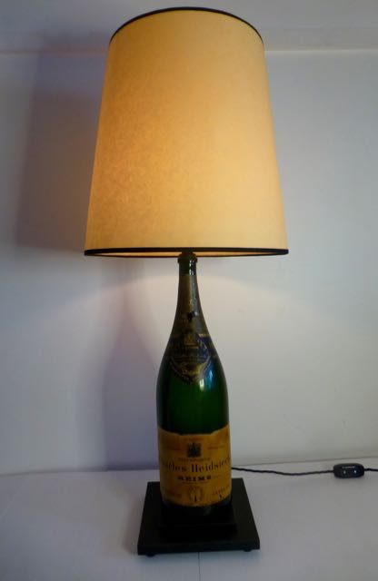 Champagne bottle lamp