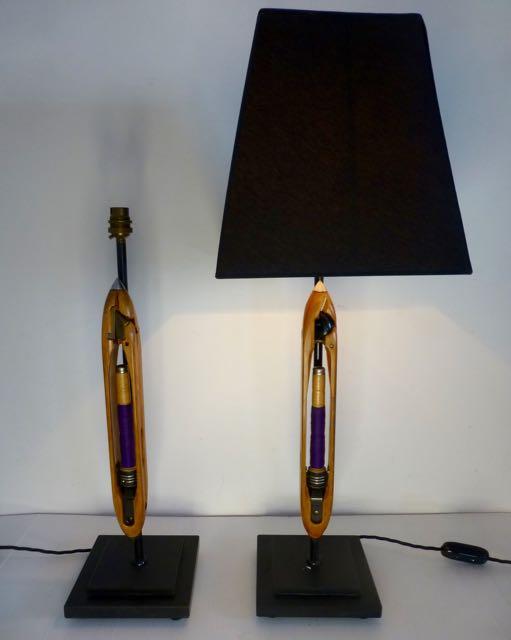Shuttle loom lamps