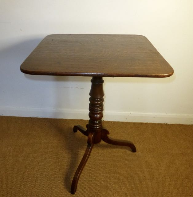 Square Victorian occasional table