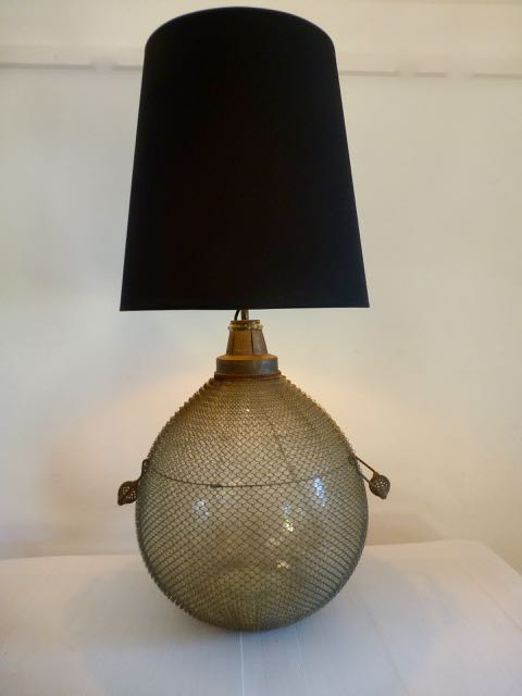 Picture of Wired French flagon table lamp.