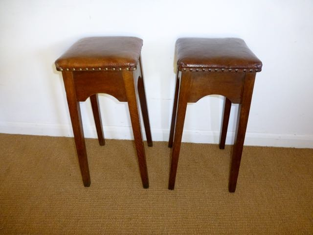 Picture of Pair of Arts and crafts stools