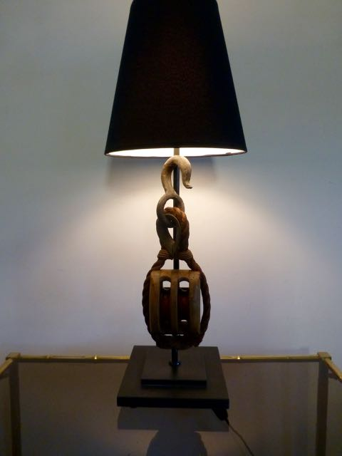 Picture of Large wooden block lamp