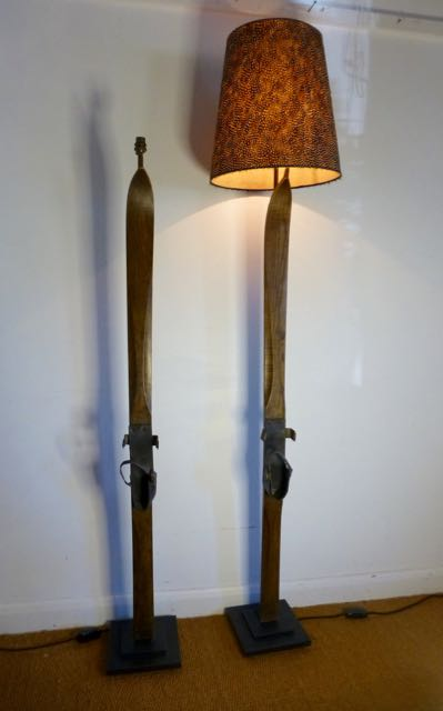 Picture of Early alpine ski lamp.