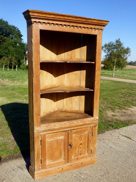 Picture of Pine corner cupboard
