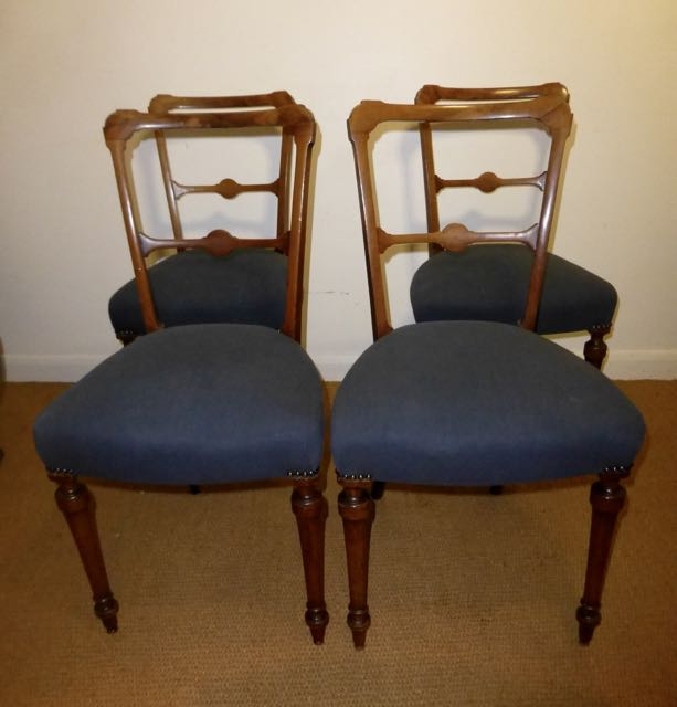 4 Victorian chairs