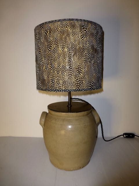 Picture of Large French earthen wear pot lamp
